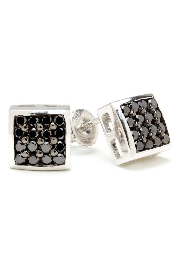 Bijoux Majesty 0.52 CTW Multi-Stone Black Diamond Earrings