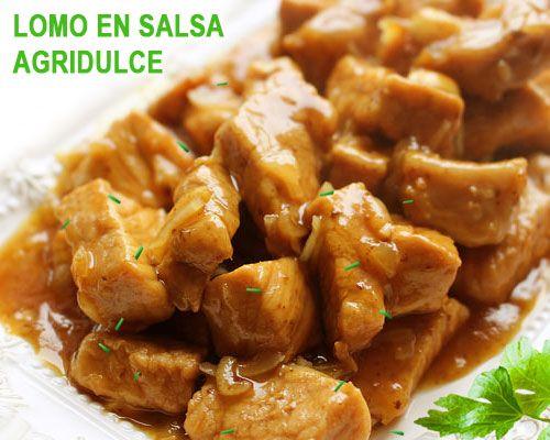 Lomo de cerdo en salsa agridulce