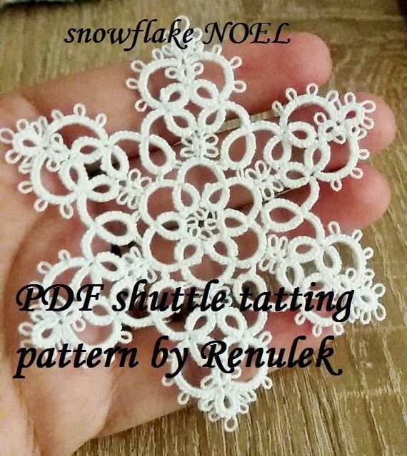 PDF Original Shuttle Tatting Pattern. Snowflake. Star. by Renulek