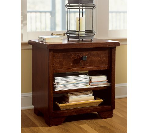 Need new bedside tables for the master bedroom. Love the look of this one.: Mahogany Stained, 1 Drawers Bedside, Blue Bedrooms, Master Bedrooms, Bedside Tables, Sumatra 1 Drawers, Pottery Barns, Sumatra Bedside, Bedrooms Ideas