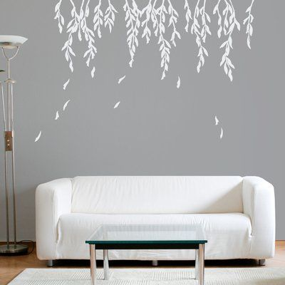 Wallums Wall Decor Willow Branches Wall Decal White Wall