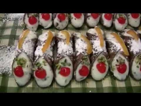 Cannoli siciliani ricetta originale - YouTube