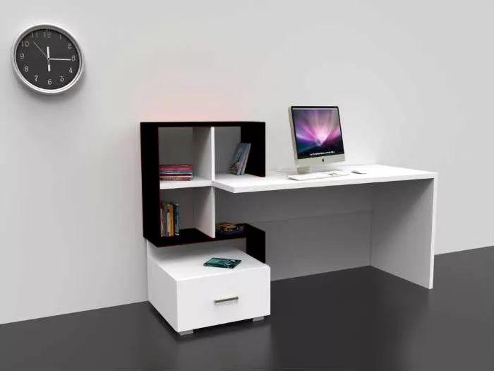 escritorio con estantería y cajón ref: milan