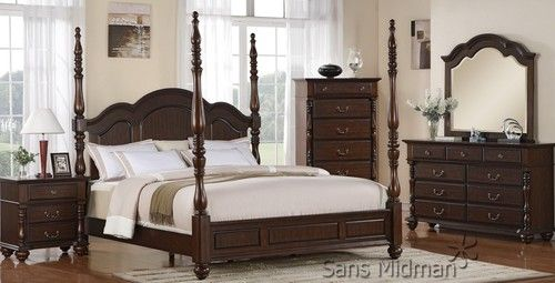 savannah 6 piece spindle post bedroom set king size