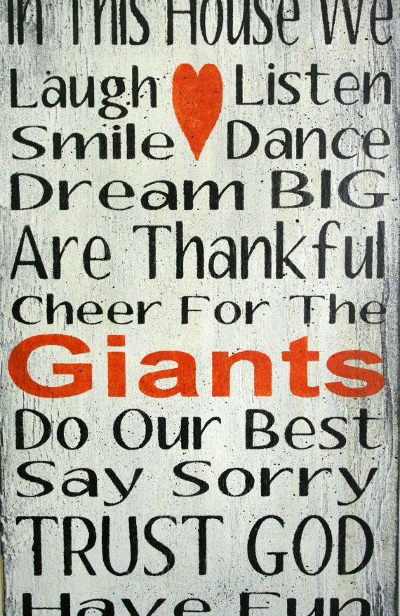 Family Rules Sign Giants Team Sports Sign by RusticlyInspired