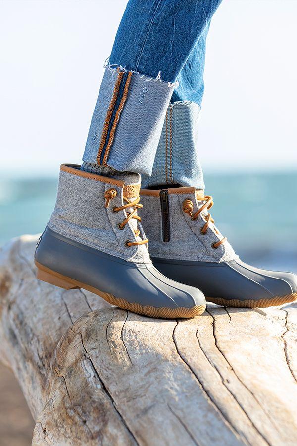 Saltwater Wool Embossed Duck Boot w