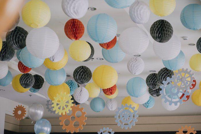 Ceiling Decorations from a Robot Birthday Party via Kara's Party Ideas KarasPartyIdeas.com (19)