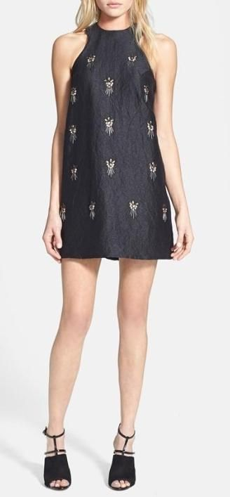 Embellished beauty! We love this A-line dress.