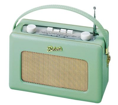 Old fashioned radio - pastel green for spring!