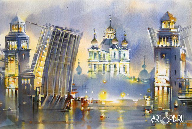 Watercolor by Olga Litvinenko