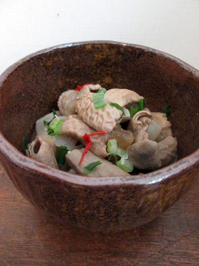 台湾の【 豚の小腸 de どて焼き 】 作った〜 ★ 豚小腸の臭みとり実験 ...