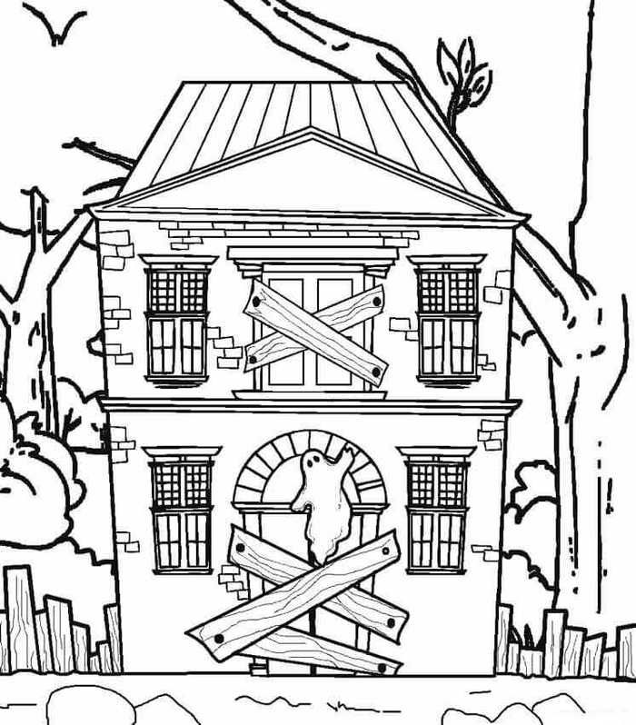 Printable Haunted House Coloring Pages Free Coloring Sheets House Colouring Pages Haunted House Drawing Halloween Coloring Pages