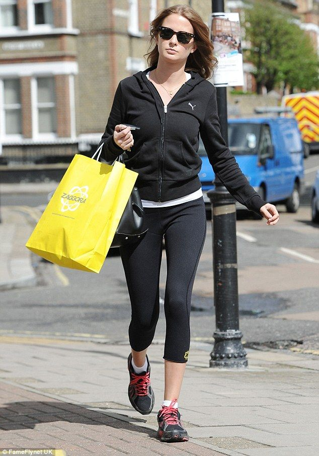 Millie Mackintosh was spotted buying new gym attire in London on Thursday