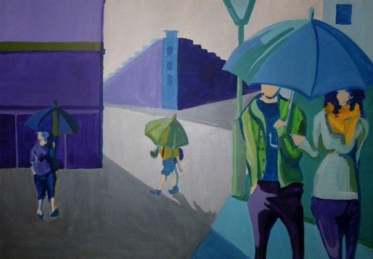Zuzanna Walas, 2013, Paryż, deszczowy dzień, 2012 #art #contemporary #artvee