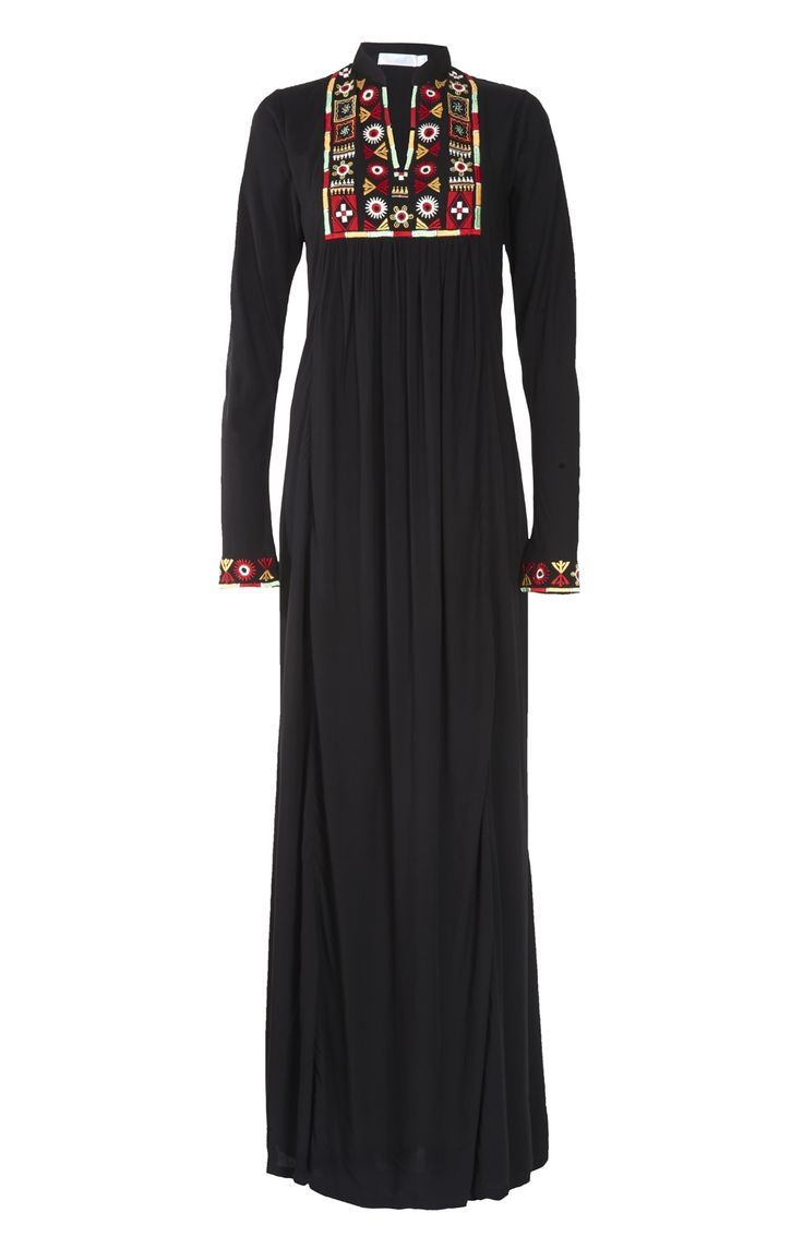 Hijab Fashion 2016/2017: Sélection de looks tendances spécial voilées Look Descreption Aab UK Tribal Art Abaya : Standard view