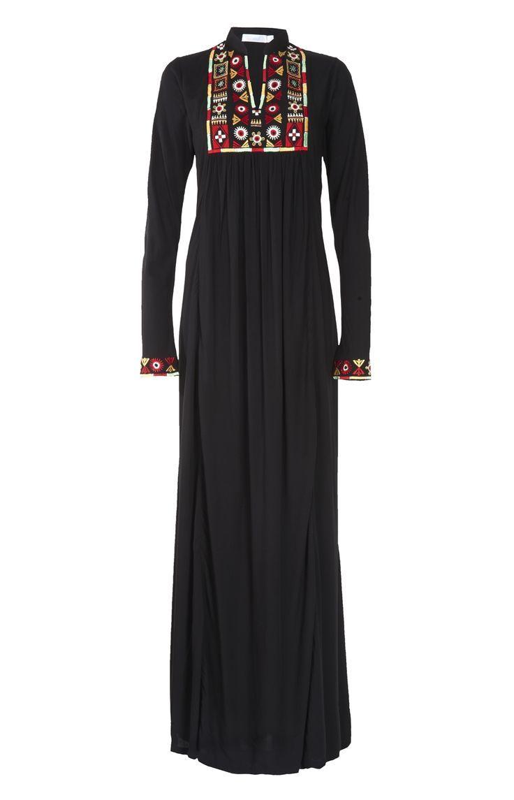 Hijab Fashion 2016/2017: Aab UK Tribal Art Abaya : Standard view Hijab Fashion…