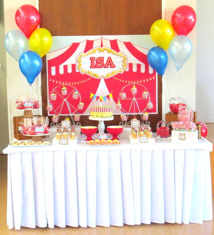 Circus party - Dessert table