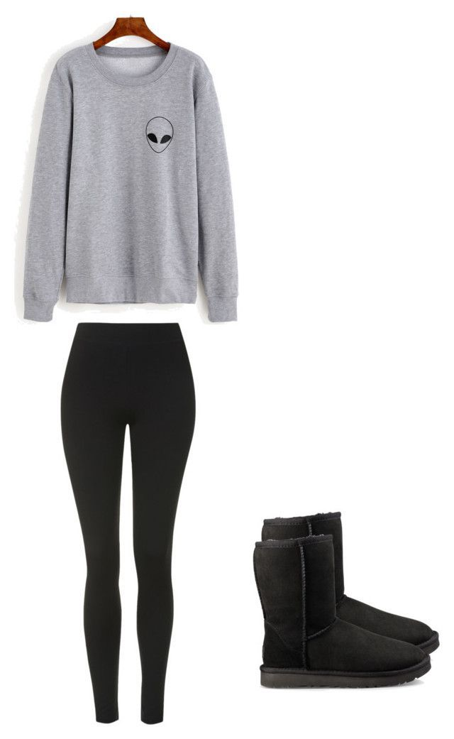 """""""Lazy fall outfit"""" by madisenharris on Polyvore featuring Topshop and UGG"""