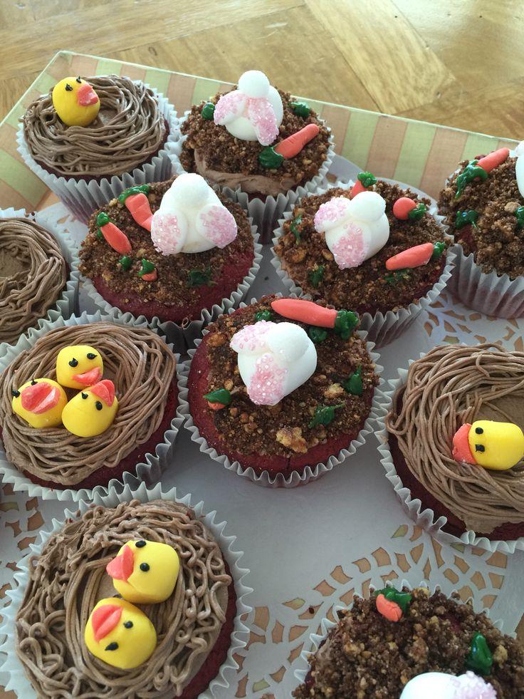 Easter cupcakes with Lauren