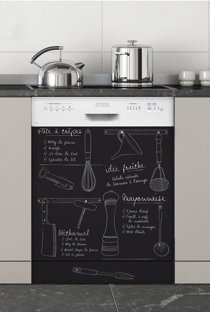 marmiton sticker lave vaisselle declik french learning pinterest chalkboards kitchens. Black Bedroom Furniture Sets. Home Design Ideas
