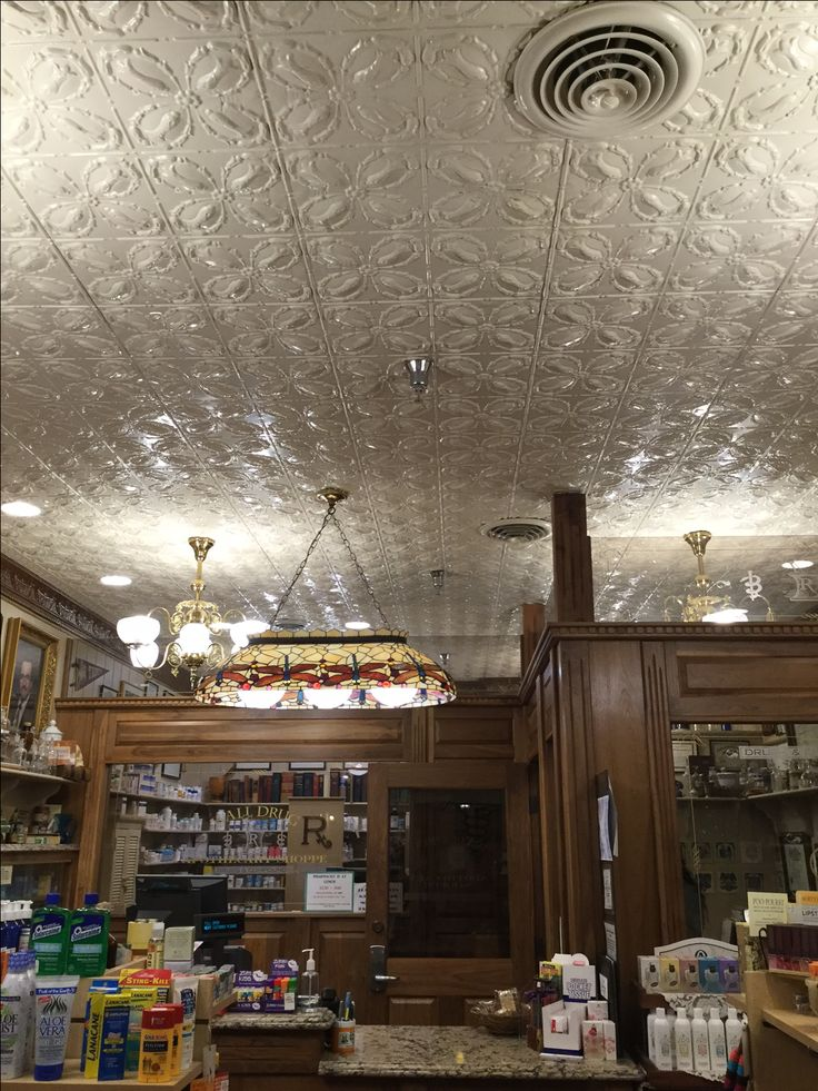 Glowing with tin ceilings.