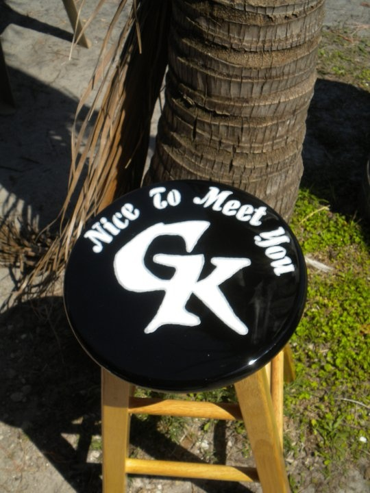 65 Best Images About Hand Painted Bar Stools By Me On