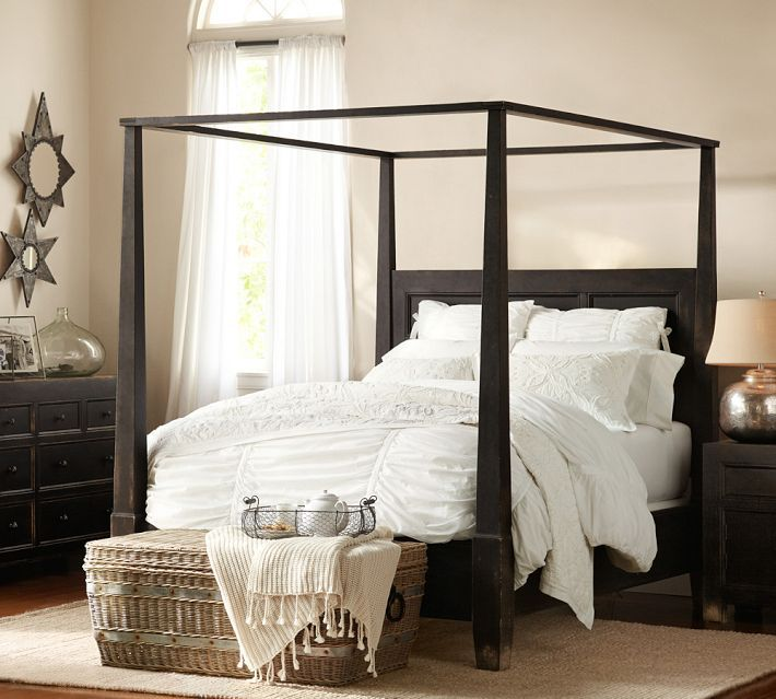 Pottery Barn Dawson Bed New House Master Bedroom Pinterest Dark Quilt And Canopy Beds