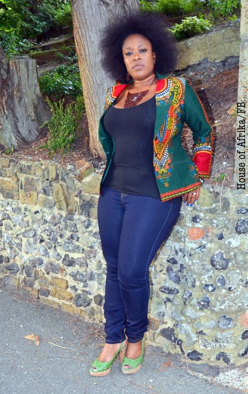 African print green Dashiki blazer. by HouseofAfrika on Etsy ~African Prints, African women dresses, African fashion styles, african clothing ~DK