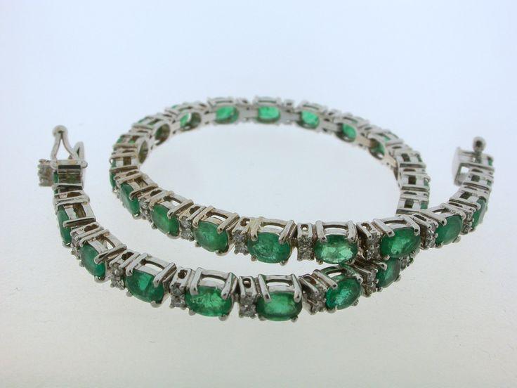 bracciale tennis smeraldi di JocalisGioielliJewel su Etsy