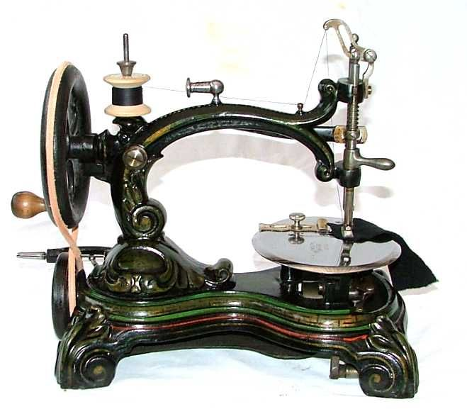 The Victorian sewing machine was invented in 1846 by Elias Howe. They were commonly made of nickel.