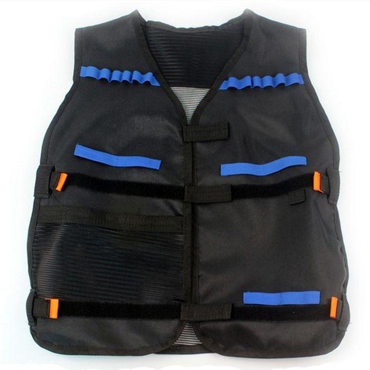 High Quality Adjustable Hunting Tactical Vest with Storage Pockets Black for Outdoor Military Nerf N-Strike Elite Game Team