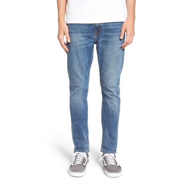 Men's Levi's 510 Skinny Fit Jeans ($70) ❤ liked on Polyvore featuring men's fashion, men's clothing, men's jeans, tanager, mens skinny jeans, mens skinny fit jeans, levi mens jeans, mens jeans and mens blue jeans