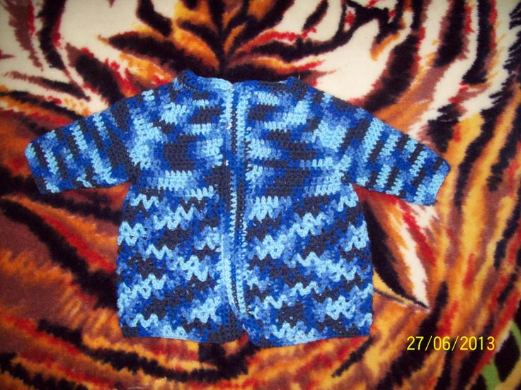 crocheted baby jacket