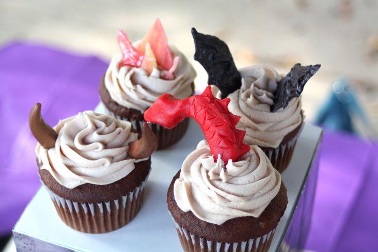 how to make dragon cupcakes