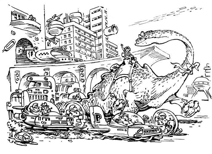 """Журнал """"Крокодил"""" - Кир Булычёв — Девочка с Земли '1974 [Евгений Мигунов]"""