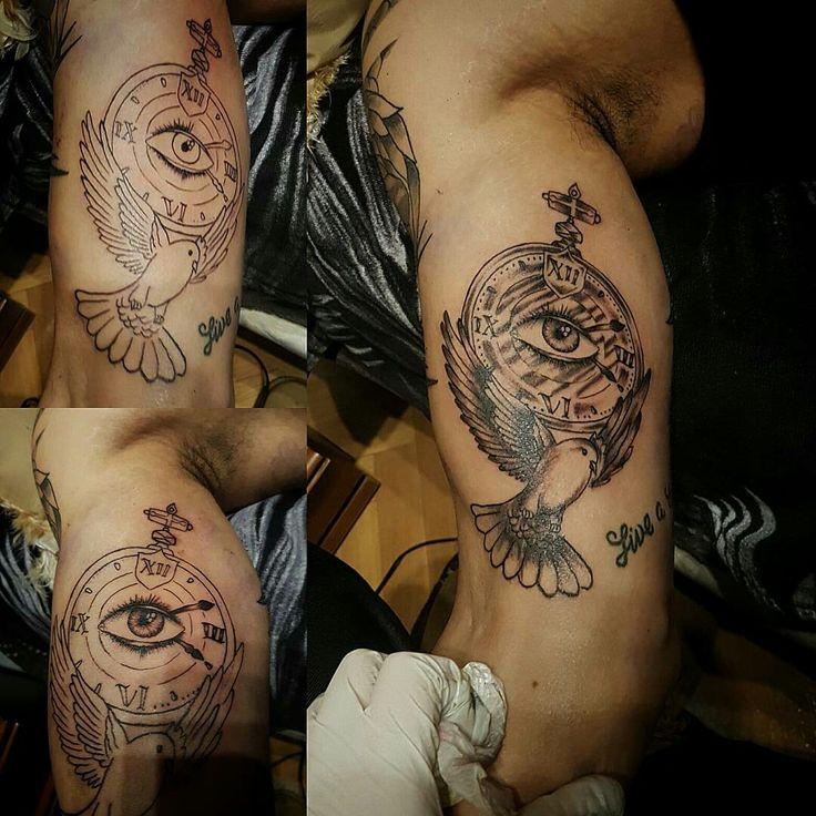 Tatuaje paloma con reloj en madrid al mejor precio