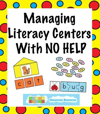 Managing Literacy Centers with NO Adult Help! | Heidi Songs