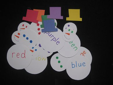 Tons of Fun: Color Matching Snowmen