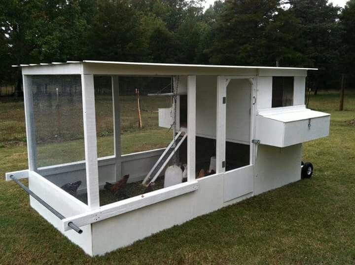 15 best cat house plans images on pinterest cat house for Mobile chicken coop plans