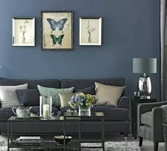 Glamorous Navy Blue Living Room Part 91