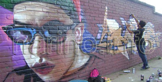 Artistas internacionales pintaron murales en Pasto