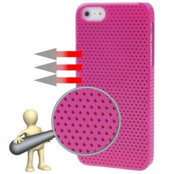 Magenta Circle Plastic iPhone Case