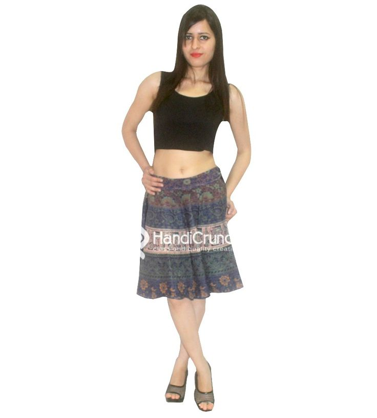 Short skirt for summer use with multicolor