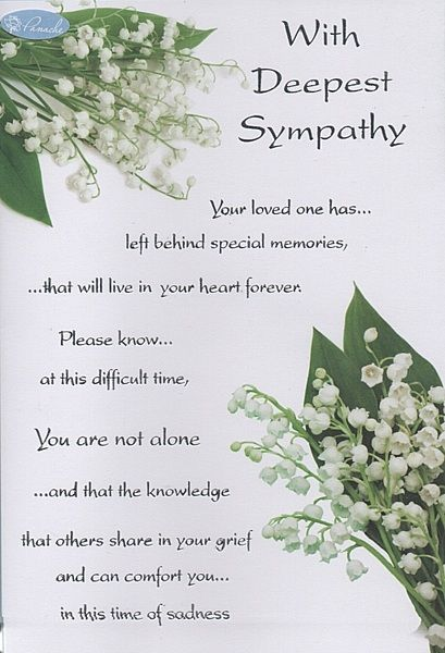 With Deepest Sympathy On The Loss Of Your Mother Google