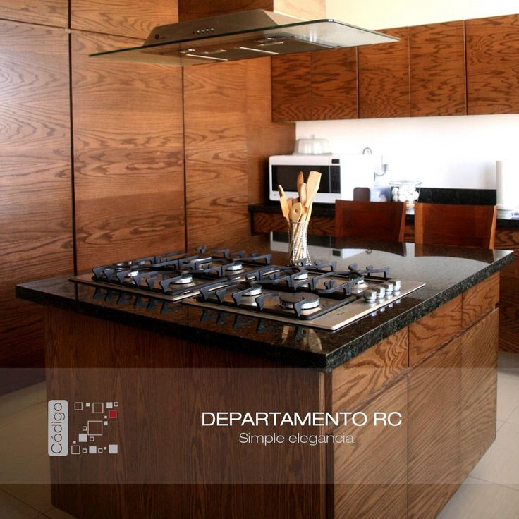 7 best images about departamento rc on pinterest mesas - Cocina moderna madera ...
