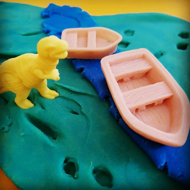 These soft plastic dinosaurs are great for #playdough and #smallworldplay