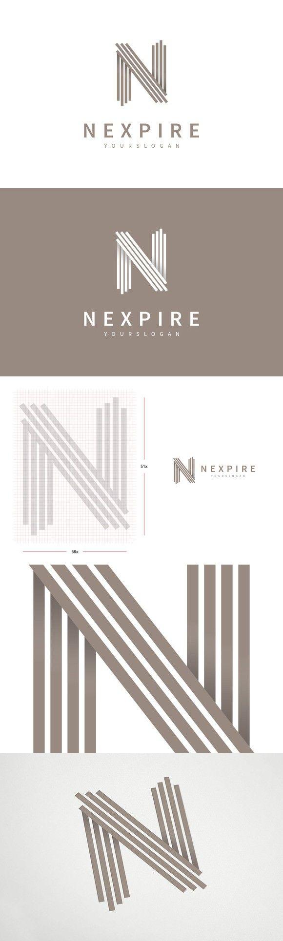 """N"" Letter Logo Template                                                                                                                                                                                 More"