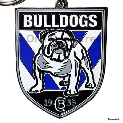 Well made chunky keyring that supports the Bulldogs in the NRL.
