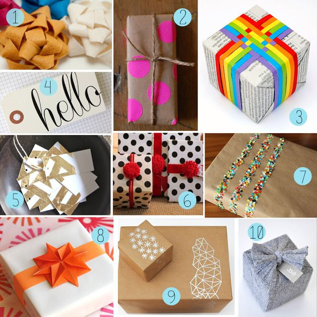 Christmas DIY Gift Wrap Ideas