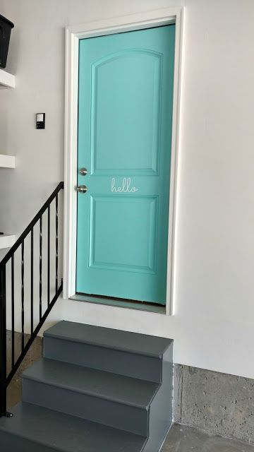 Easily update your garage door entrance to instantly improve the look! So fun for beach house!